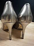Туфлі жіночі шкіряні золотисті Guess, фото 3