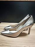 Туфлі жіночі шкіряні золотисті Guess, фото 2