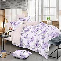Комплект постельного белья Сатин 100% хлопок - Весенние цветы 4 размера Евро
