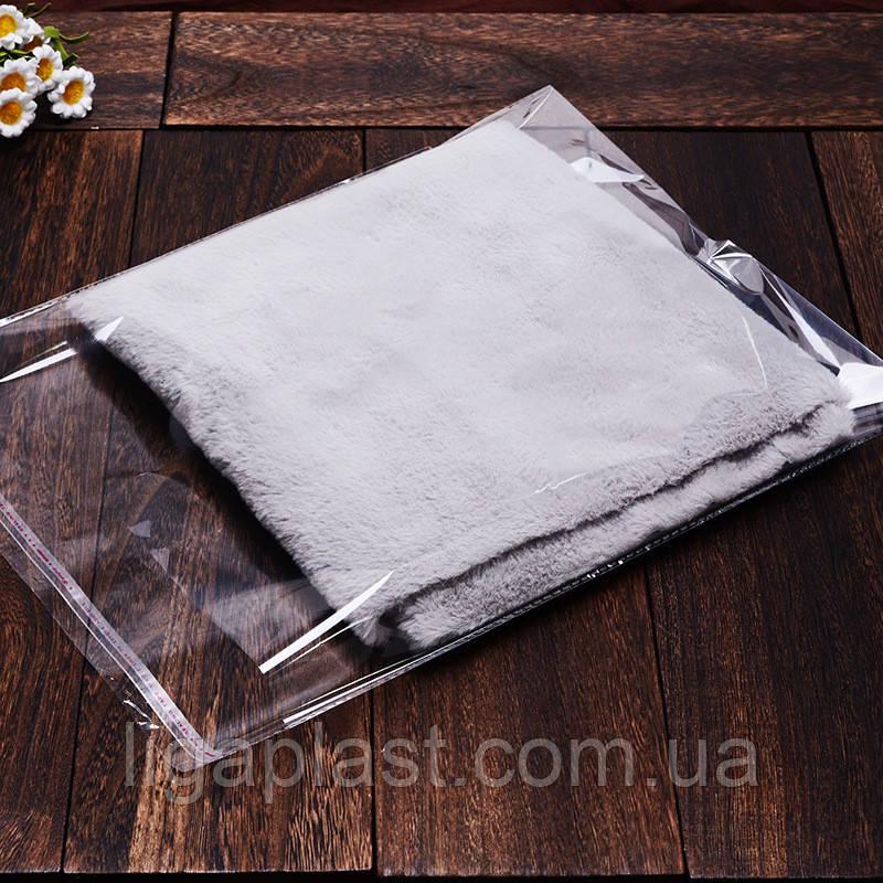 Пакеты полипропиленовые с липкой лентой 250-350мм+кл. 20мкм