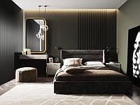 Двоспальне ліжко в якісній миючій тканині  Шик Галичина Остін