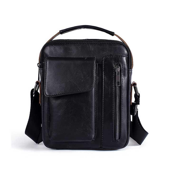 Чоловіча шкіряна сумка-барсетка Marrant чорного кольору
