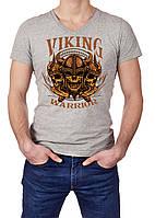 Футболка  чоловіча з принтом Воїн вікінг / Футболка мужская с принтом Воин викинг
