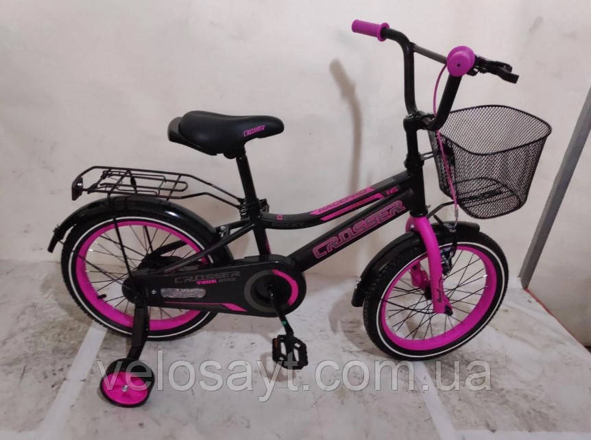 """Детский велосипед Crosser Rocky 18"""" розовый"""