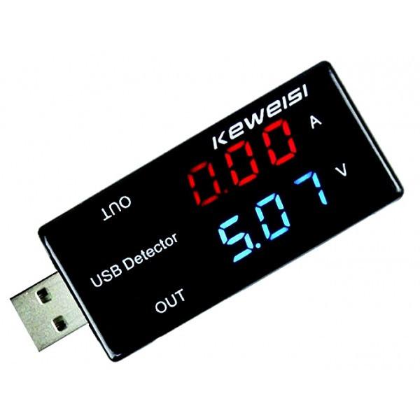Тестер USB KEWEISI вольтметр, амперметр  KWS-V10