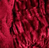 Покрывало меховое двухстороннее  Норка-Травка  на двухспальную кровать 200х220 (евро), на подарок