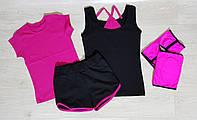 Комплект спортивный на девочку. Одежда для гимнастики.