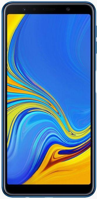 """Смартфон Samsung Galaxy A7 2018 с тройной камерой и сканером отпечатка сбоку 6"""" 4/64Gb синий"""