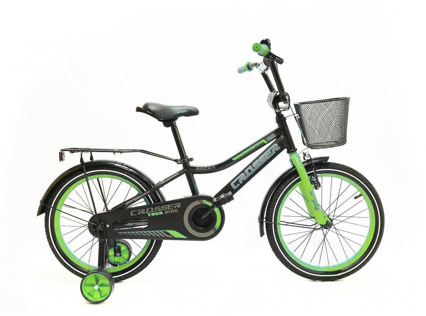 """Дитячий велосипед Crosser Rocky 20"""" зелений"""