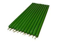 Восковые зеленые свечи 27см