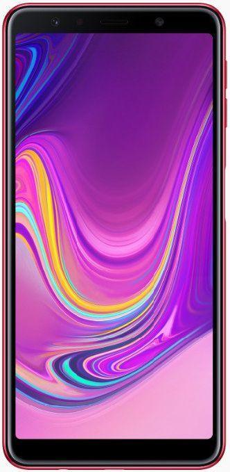 """Смартфон Samsung Galaxy A7 2018 с тройной камерой и сканером отпечатка сбоку 6"""" 4/64Gb розовый"""