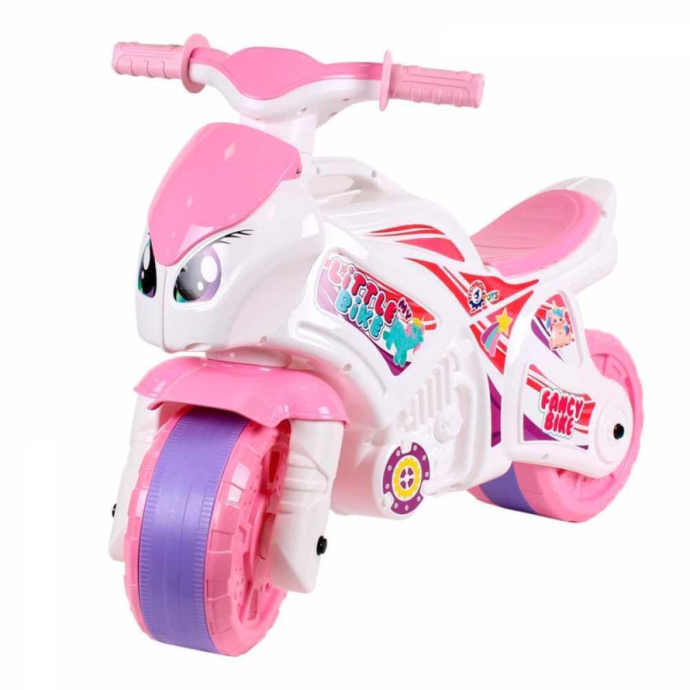 """Детская каталка-мотоцикл """"Технок"""" 5798 Бело-розовая"""