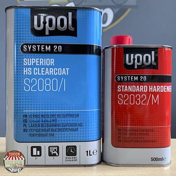Лак акриловый суперпрозрачный U-POL S2080 2:1 HS, 1,5 л комплект
