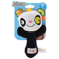 Погремушка WLTH8142J-3 (120шт) панда,17см, плюш, на листе, в кульке,11-19-7см