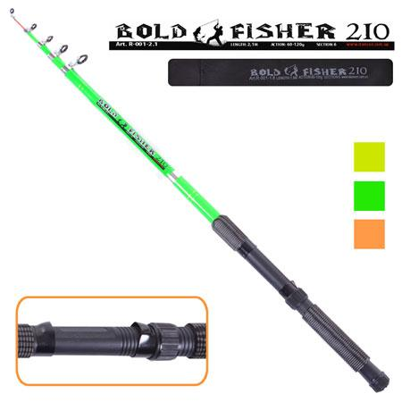 "Спиннинг телескоп ""Bold fisher"" 2.1м 60-120г 6к R-001-2.1 (100шт)"