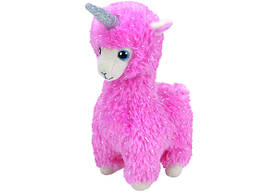 М'яка іграшка ty beanie babies рожева лама lana 15 см (36282)