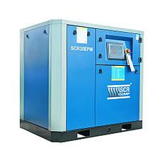 Компресор SCR 30 РМ (22 кВт, 0.74 - 3.7 м3/хв) прямий привід, частотник, двигун на постійних магнітах, фото 3