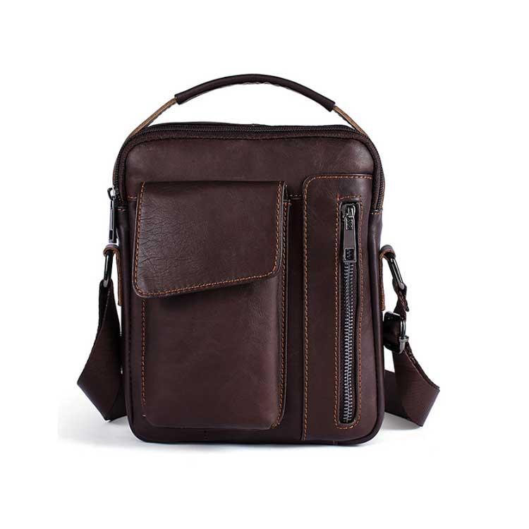 Чоловіча шкіряна сумка-барсетка Marrant коричневого кольору