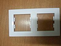 Рамка 2-а горизонтальна біла SCНNEIDER ASFORA