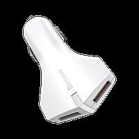Автомобильное зарядное устройство для смартфона QC3.0 2USB 3A Baseus Small Rocket White (CCALL-RK02)