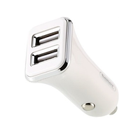 USB Car Charger 2.4A 2*USB Remax RCC-203 White