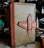 Кожаная обложка блокнот еженедельник винтажный ручной работы для подарка мужчине оригинальный, фото 9
