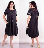 Нарядное женское платье свободного кроя 50-52 54-56 58-60 62-64
