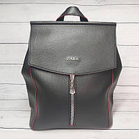 Сумка-рюкзак женский Zara, цвет черный с красным ( код: IBG207BR )