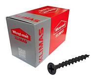 Шуруп саморез 3,5х25мм острый для гипсокартона по дереву фосфатный черный Wkret-met KSGD упаковка 1000 штук