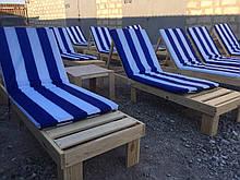 Шезлонг деревянный лежак пляжный для бассейна