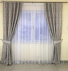 Готовые шторы Турецкий лен для спальни или гостинной 1,5х2,7, фото 2