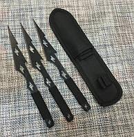 Набор тактических метательных ножей 3 штуки c Чехлом 21см / АК-326