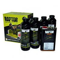 RLB/S4 Захисне покриття підвищенної міцності 3+1 RAPTOR 4шт+0,8л(комплект)  ЧОРНИЙ 3,8л  U-POL
