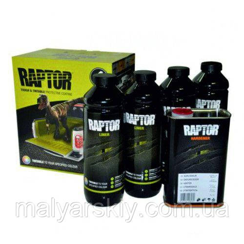 RLT/S4 Захисне покриття підвищенної міцності 3+1 RAPTOR 4шт+0,8л(комплект)  КОЛЬОРОВИЙ 3,8л  U-POL