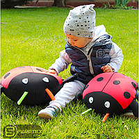 Мягкая маленькая игрушка подушка антистресс БОЖЬЯ КОРОВКА 28х25х8 см