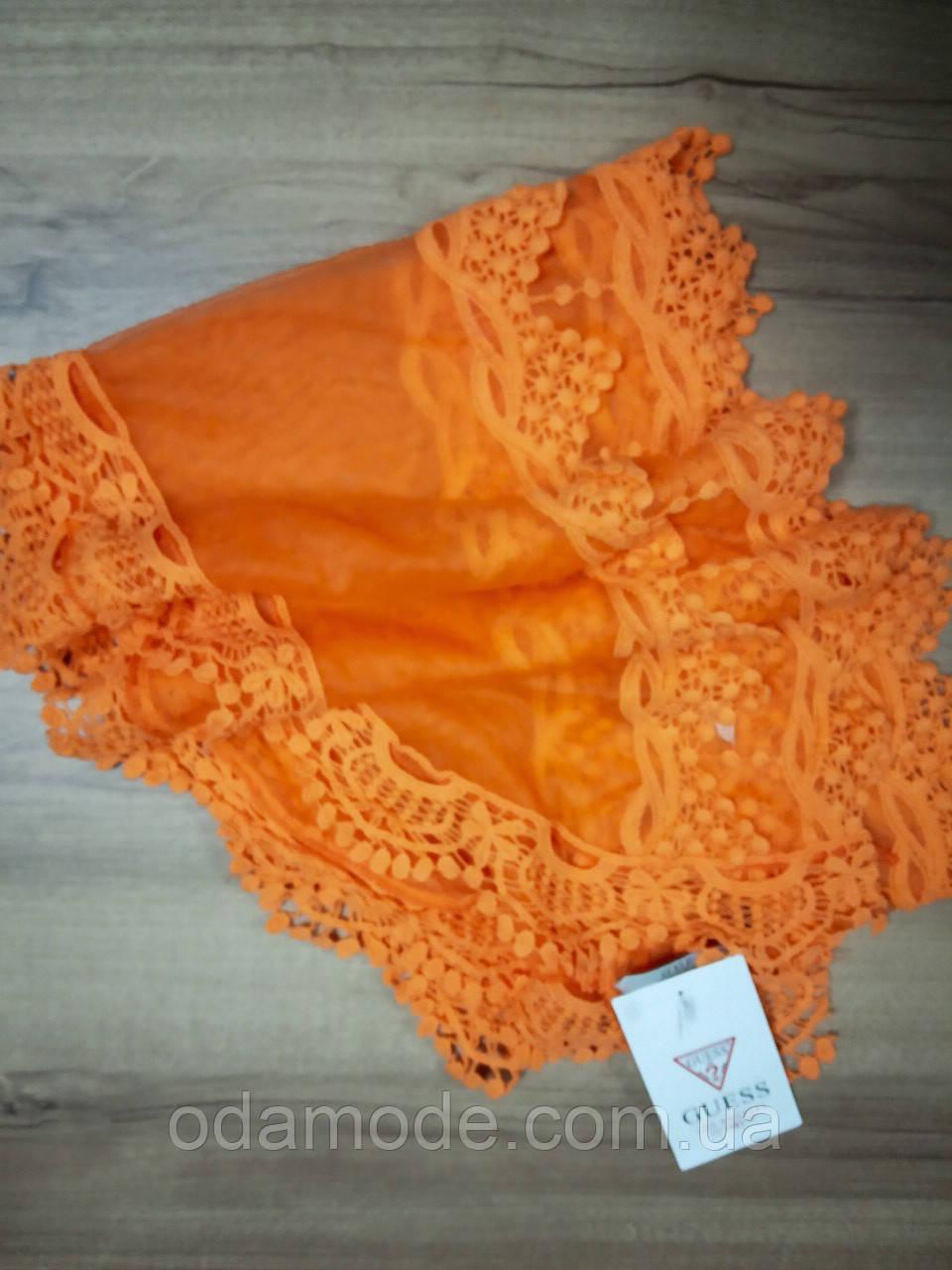 Шарф кружевной оранжевый Guess