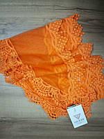 Шарф кружевной оранжевый Guess, фото 1