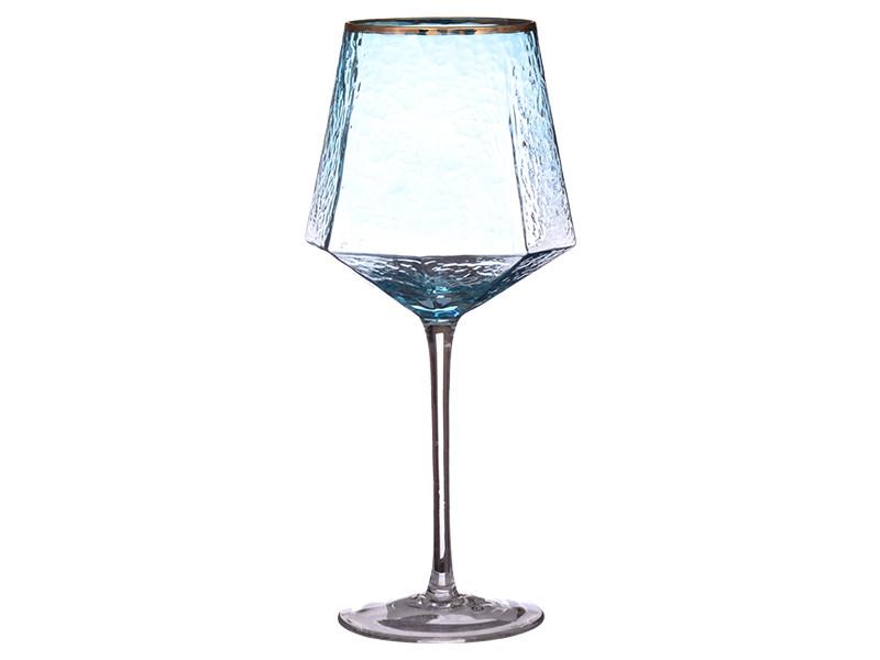 """Набор бокалов 4 шт для вина """"Бирюза"""", 600 мл, GXF01B-B"""
