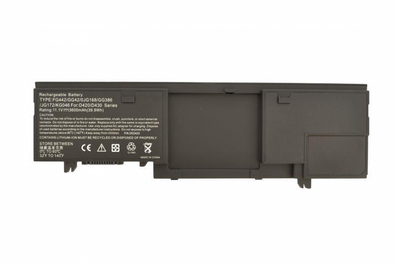 Аккумуляторная батарея для ноутбука Dell KG046 Latitude D420 11.1V Black 3600mAh OEM