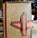 Кожаная обложка блокнот еженедельник винтажный ручной работы для подарка мужчине оригинальный, фото 4