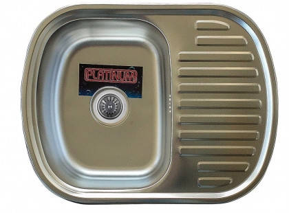 Мойка из нержавеющей стали 08мм Platinum 6349 сатин, фото 2