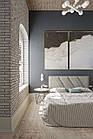 """Двоспальне ліжко  в якісній сірій тканині Шик Галичина """"Кліо"""", фото 9"""