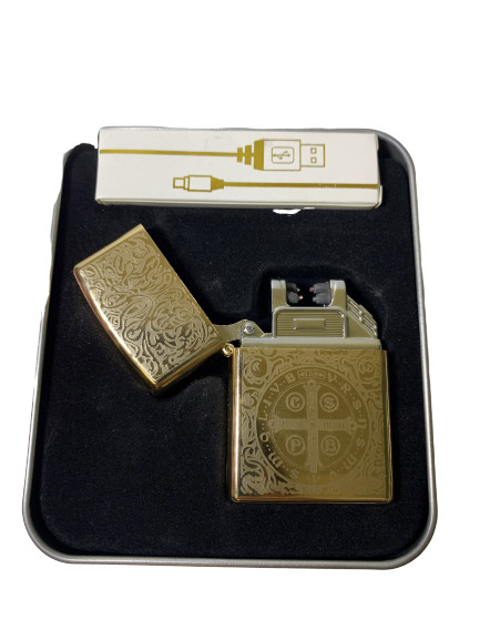 USB запальничка електроімпульсна LIGHTER VIP X-10 золота