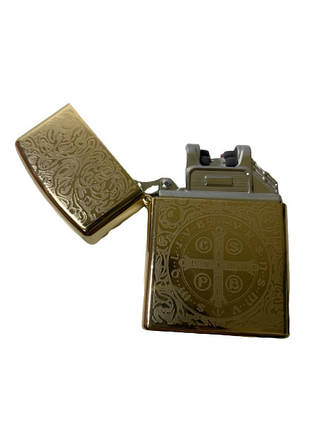 USB запальничка електроімпульсна LIGHTER VIP X-10 золота, фото 2