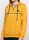 Спортивный костюм женский желто-черный Aylin однотонный, фото 3