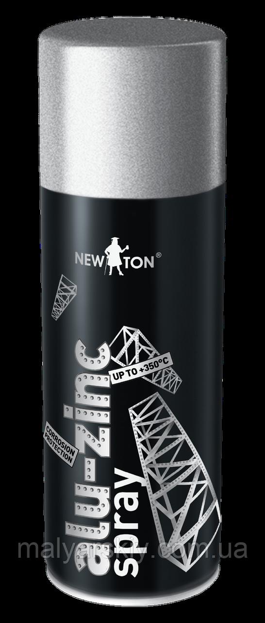 Емаль спецпризначення  ALU-ZINC SPRAY  В АЕРОЗОЛІ  Біла  NewTon  400мл