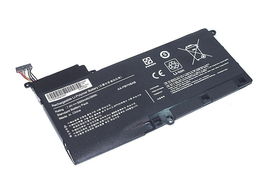 Аккумуляторная батарея для ноутбука Samsung AA-PBYN8AB 530U 7.4V Black 5300mAh OEM