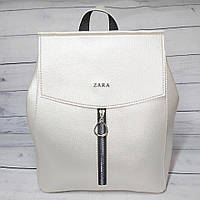 Сумка-рюкзак женский Zara, цвет жемчужный ( код: IBG207O )