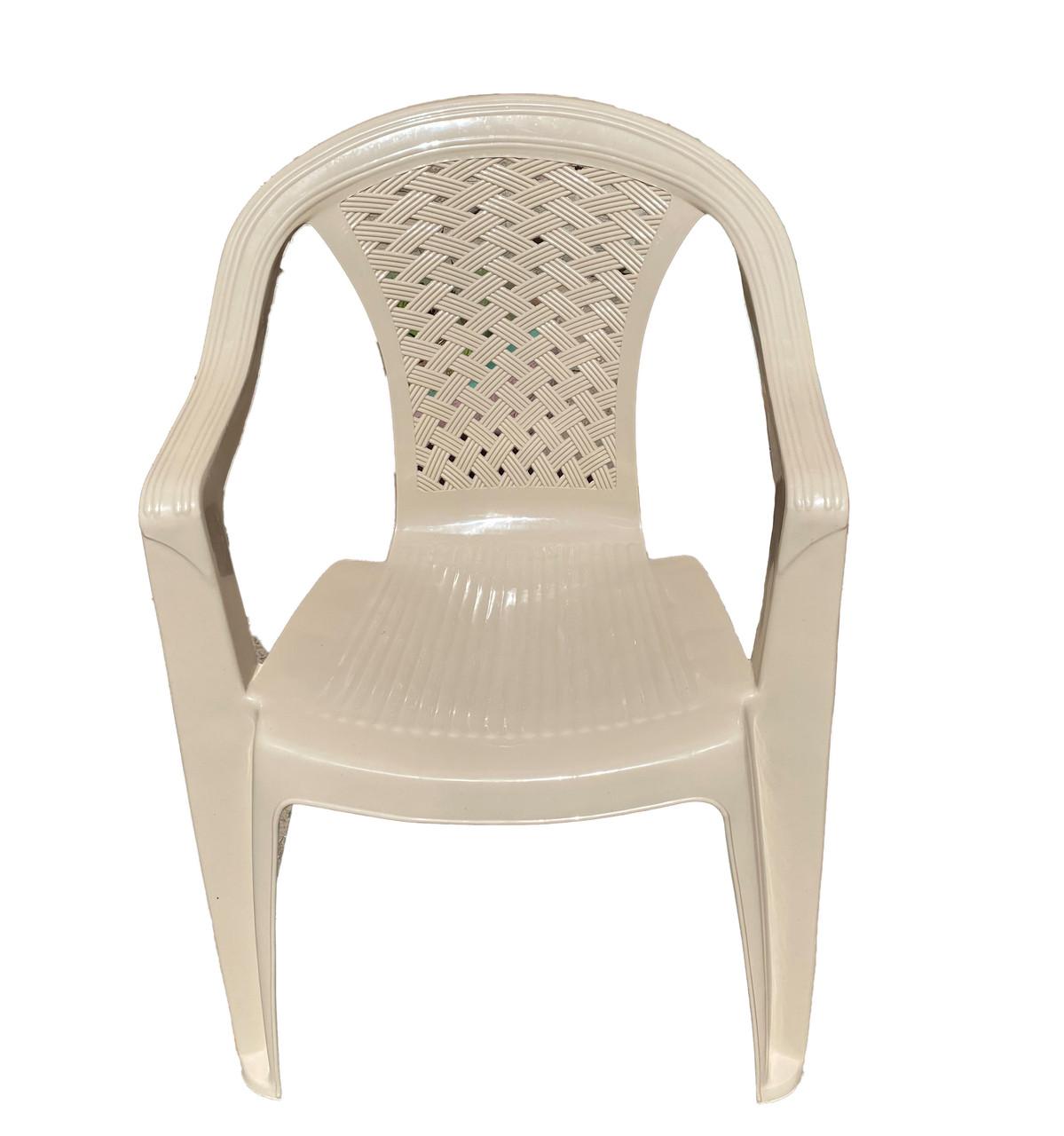 Крісло садове пластмасове, АКЦІЙНЕ, 560х555х805мм
