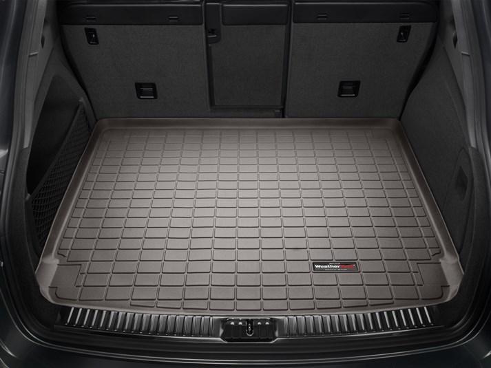 Ковер резиновый WeatherTech Porsche Cayenne 2015-2019 в багажник (стандартное аудио Bose) какао